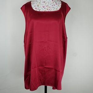 MAGGIE BARNES PLUS 5X (34/36)  TANK TOP  RED